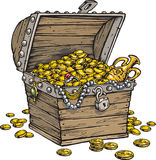 Treasure Chest Gold Money Royalty Free Stock Photo