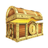 Treasure Chest. Golden quality treasure chest on white background Stock Image