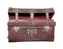 Treasure Chest : Half opened empty wooden chest with reflection Royalty Free Stock Photo