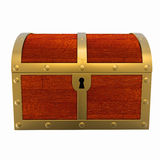 Treasure Chest Isolated Stock Photography