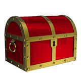 Treasure Chest Isolated. Image include HAND-DRAWN  CLIPPING PATH for remove background and change color panel Royalty Free Stock Photography
