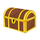 Treasure Chest isolated illustration. On white background vector illustration