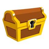Treasure Chest isolated illustration Stock Image
