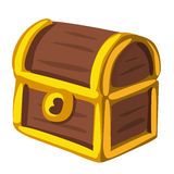 Treasure Chest isolated illustration Royalty Free Stock Images