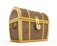 Treasure chest. Isolated treasure chest with sealed lock Stock Image