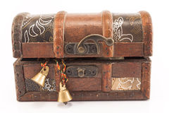 Treasure chest. Isolated on white Royalty Free Stock Image