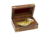 Treasure chest isolated on white Royalty Free Stock Image