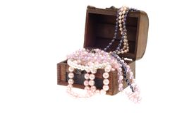 Treasure chest with jewelry Stock Photography
