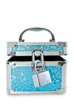 Treasure Chest with lock Isolated on White Royalty Free Stock Photo