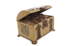 Treasure chest with money Stock Images