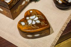 Treasure chest with mother of pearl inlay stock image