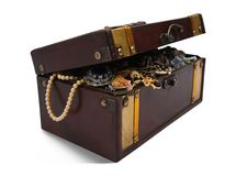 Treasure chest over white Stock Photography