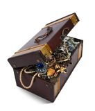 Treasure chest over white Stock Photo