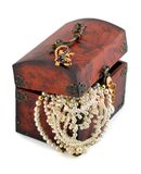 Treasure chest and pearl Stock Images