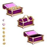 Treasure chest with pink jewelry Stock Photo