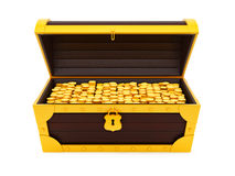 Treasure chest. Render of a treasure chest, isolated on white stock illustration