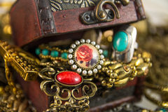 Treasure Chest. It's many jewelry in treasure chest Stock Images