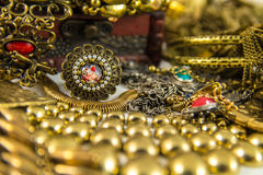 Treasure Chest. It's many jewelry in treasure chest Stock Photo