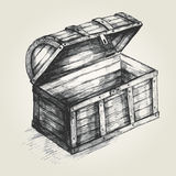 Treasure Chest. Sketch illustration of a treasure chest Stock Photo