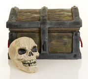 Treasure chest and skull Stock Photography
