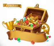 Treasure Chest. vector icon Royalty Free Stock Photos