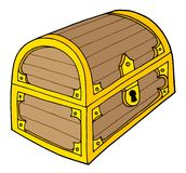 Treasure chest vector illustration Royalty Free Stock Photos