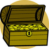 treasure chest vector illustration Royalty Free Stock Image