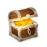 Treasure chest, vector illustration. Isolated on white background Stock Photography