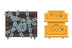 Treasure chest vector illustration. Stock Image
