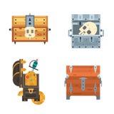 Treasure chest vector illustration. Stock Photography
