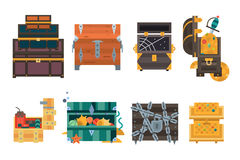 Treasure chest vector illustration. Stock Photos