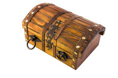 Treasure chest on white. Background royalty free stock photography