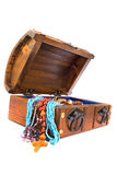 Treasure chest on white. Background Stock Images