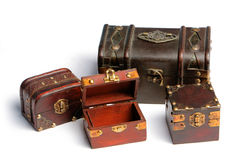 Treasure chests Stock Photography