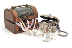 Treasure chests  with jewelry Royalty Free Stock Photography