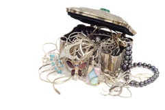Treasure chests  with jewelry Stock Images