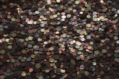 Treasure coin background. Heap of old rustic coins, money background, treasure concept Royalty Free Stock Photography