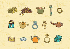Treasure elements illustration Stock Photo