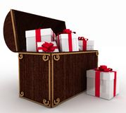 Treasure with gift Royalty Free Stock Images