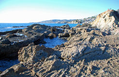 Treasure (Goff) Island looking toward Laguna Beach, California. Stock Images