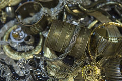 Treasure, heap of Beautiful Oriental Golden Bridal jewelry (Indi Stock Photos