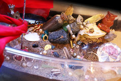 Treasure Hoard Constructive. A beautifully stylized Treasure Hoard Constructively put on display as a feast for wealthy eyes royalty free stock photography