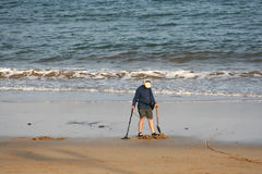 Treasure Hunter. Looking for treasures at the end of the day once the tourists have left royalty free stock photos