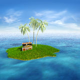 Treasure island Stock Photography