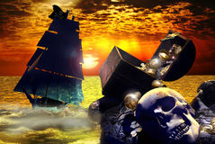 The treasure island Royalty Free Stock Image