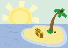 Treasure island stock illustration