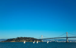 Treasure island. With bay bridge in San Francisco bay Royalty Free Stock Photo