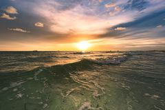 Treasure Island beatiful sunset. Dramatic sunset in Treasure Island Florida stock images