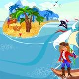 Treasure island Stock Photo