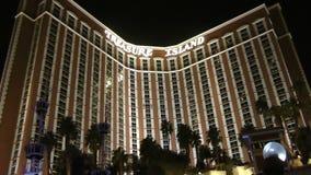 Treasure Island hotel and casino on CIRCA 2014 in Las Vegas stock video